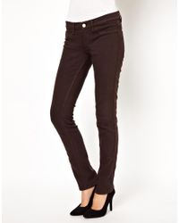 M.i.h Jeans | Brown Vienna Skinny Jean in Coffee | Lyst