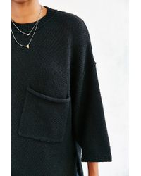 Silence + Noise | Black Sweater Pocket Tee | Lyst