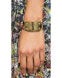 Rebecca Minkoff Metallic Id Cuff Bracelet Gold