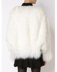 Chloé White Mongolian Shearling Jacket