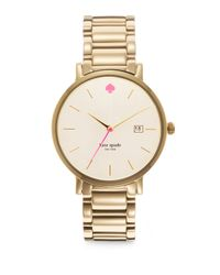 kate spade new york | Metallic Gramercy Grand Goldtone Stainless Steel & Mother-Of-Pearl Bracelet Watch | Lyst