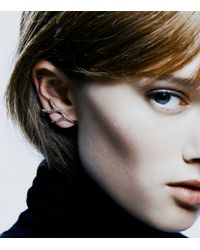 Colette Malouf | Black Flame Pave Ear Cuff | Lyst