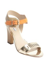 c2cac1d3a066 Charles by Charles David - Metallic Light Gold And Orange Cutout Detail   justice  Sandals