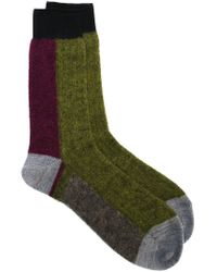 Haider Ackermann - Green Colour Block Socks for Men - Lyst