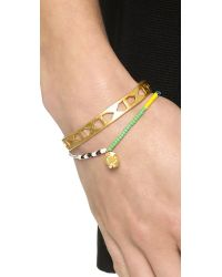 Marc By Marc Jacobs - Multicolor Safety Bead Single Strand Bracelet Red Multi - Lyst