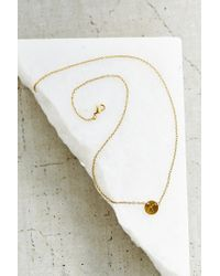 Urban Outfitters - Metallic Layering Initial Charm Necklace - Lyst