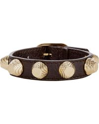 Balenciaga - Brown Arena Giant Stud Bracelet-Colorless - Lyst