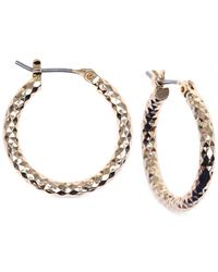 Jones New York | Metallic Small Hammered Hoop Earrings | Lyst