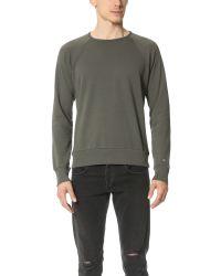 Rag & Bone Gray David Garment Dye Sweatshirt for men