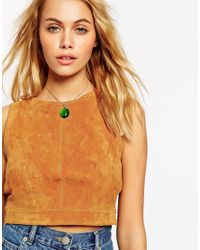 ASOS - Brown Mood Stone Choker Necklace - Lyst
