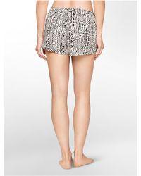 Calvin Klein - Multicolor Underwear Woven Leopard Print Sleep Shorts - Lyst