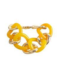 Kenneth Jay Lane - Orange Gold And Citrus Resin Link Bracelet - Lyst