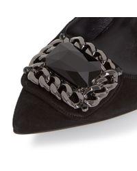 Dune Black Black Billie Trim Detail Pointed Court Shoes