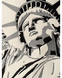 Fausto Puglisi Purple Statue Of Liberty Techno Jacquard Top