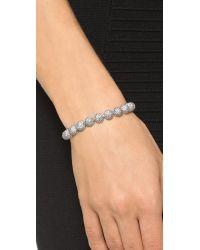 Eddie Borgo | Metallic Pave Medium Dome Bracelet - Silver | Lyst