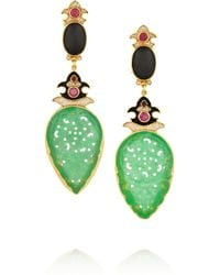 Percossi Papi Green Diego Goldplated Multistone Earrings