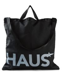 Haus By Golden Goose Deluxe Brand | Black Logo Print Shopping Bag for Men | Lyst