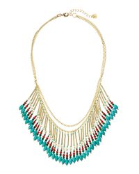 Nakamol | Blue Mixed-chain Fringe Necklace | Lyst