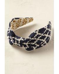 Emin & Paul Blue Tapestry Turban Headband