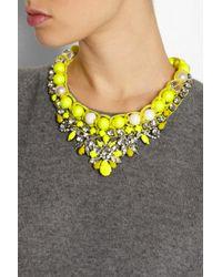 Shourouk - Yellow Theresa Swarovski Crystal Necklace - Lyst