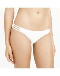 J.Crew | White T-back String Bikini Top | Lyst
