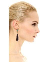 Vanessa Mooney | Blue Le Dame Turquoise Tassel Earrings - Turquoise/black | Lyst