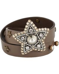 Lanvin | Brown Elsie Wrap Bracelet | Lyst
