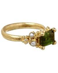Ruth Tomlinson   Green Gold Tourmaline Ring   Lyst