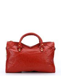 Balenciaga - Orange Lambskin 'Giant City' Convertible Shoulder Bag - Lyst
