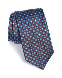Ted Baker | Brown 'daisy Micro' Floral Silk Tie for Men | Lyst