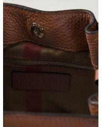 Burberry Brown Zip Detail Bucket Tote