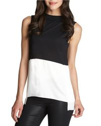 1.STATE | White Colorblocked Modal Top | Lyst
