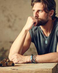 John Hardy - Blue Turquoise With Black Matrix & Chain Wrap Bracelet for Men - Lyst