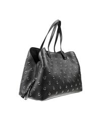 Valentino - Black Crystalcoated Leather Tote - Lyst