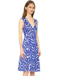 BCBGMAXAZRIA - Abilene Dress - Bt Larkspur Blue - Lyst
