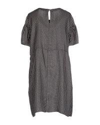 Momoní - Gray Short Dress - Lyst