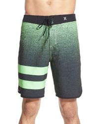 Hurley - Green 'phantom Julian' Board Shorts for Men - Lyst