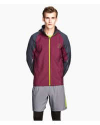 H&M - Red Running Jacket for Men - Lyst