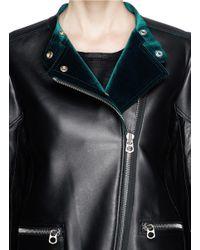Sandro Black 'vitaa' Lamb Leather Jacket