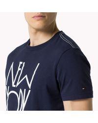Tommy Hilfiger - Blue Cotton Regular Fit T-shirt for Men - Lyst