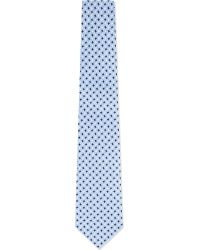 Eton of Sweden | Blue Jagged Squares Silk Tie for Men | Lyst