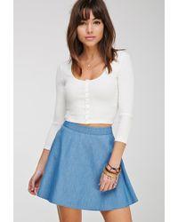 Forever 21 | Blue Denim Skater Skirt | Lyst