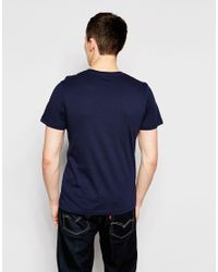 Jack & Jones Blue T-shirt With Stretched Font Print for men