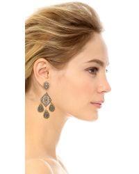 Miguel Ases | Metallic Riley Earrings - Slate Multi | Lyst