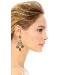 Miguel Ases | Gray Riley Earrings - Slate Multi | Lyst