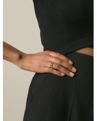 KENZO | Metallic 'octagon' Ring | Lyst