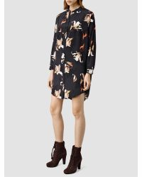 AllSaints Multicolor Helle Yoro Silk Dress
