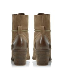 Steve Madden Brown Gretchun Leather Mid Block Heel Calf Boots