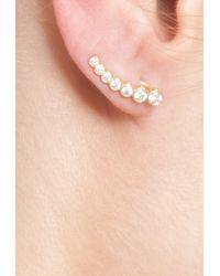 Sophie Bille Brahe - Metallic Diamond Small Croissant Earing - Lyst