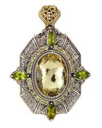 Konstantino | Metallic Lemon Topaz  Peridot Sterling Silver Pendant | Lyst